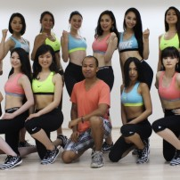 Miss Grand Japan 2015 training session