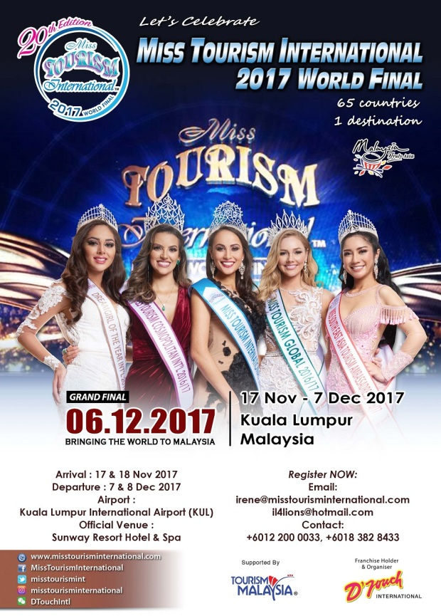 Misaki Hoshi to compete in Malaysia for Miss Tourism International 2017